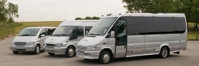 our fleet of minibuses three